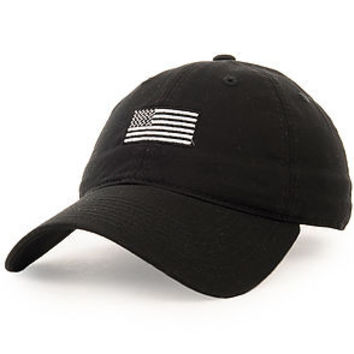 Black and Silver flag (black dad hat)