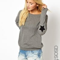 ASOS Tall | ASOS TALL Jumper With Star Elbow Patch at ASOS