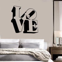 Vinyl Decal Love Lettering Romance Decor for Bedroom Wall Stickers (ig991)