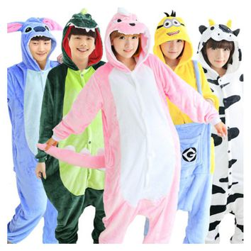 Animal Onesuits Sleepwear For Men Women Adults