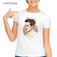 2017 Summer fashion Women Short Sleeve Shirt casual T-shirt Panic! At The Disco personality ladies Tee Printing Round Neck