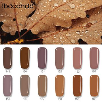 1pc Brown Series Colors Nail Gel Polish Soak Off Long-Lasting UV Led Vernis Semi Permanent Nail Gel Lak Varnish Nail Art Design