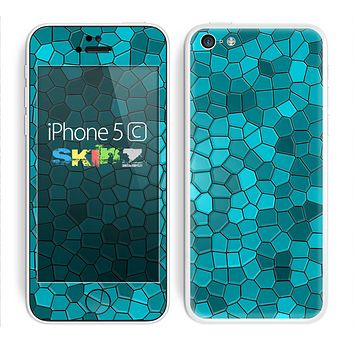 The Abstact Blue Tiled Skin for the Apple iPhone 5c