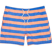 River Island MensOrange and blue stripe swim trunks