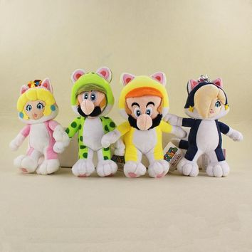 Super Mario party nes switch  Bros 3D World Cat Princess Rosalina & Peach Plush Dolls  Luigi Toys Stuffed Soft Plush Kids Gifts AT_80_8