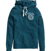 Hooded Top with Printed Motif - from H&M