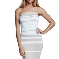 Celebration Ribbed Colorblock Stripe Midi Dress