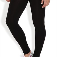 Basic Black Seamless Ankle Length Leggings