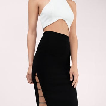 Glamorous Kimberly Midi Cut Out Skirt
