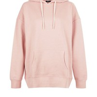 Shell Pink Oversized Slouch Hoodie