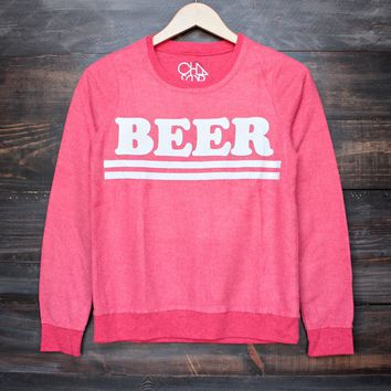 Chaser beer sweatshirt in red