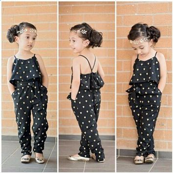 Girls Love Heart Straps Rompers Jumpsuit FREE SHIPPING
