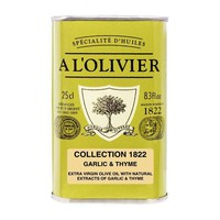 A L'Olivier Garlic and Thyme Infused Extra Virgin Olive Oil, 8.3 fl oz (250 ml)