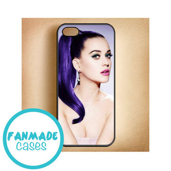 Katy Perry purple iPhone 4/4s 5/5s/5c & iPod 4/5 Rubber Case