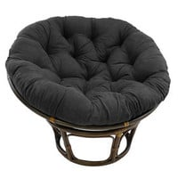 Black Suede Papasan Chair Cushion (base and bowl sold separately)