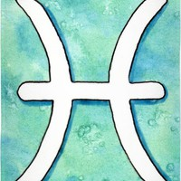 Pisces astrological sign Beach Towel