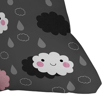 Elisabeth Fredriksson Happy Clouds Throw Pillow