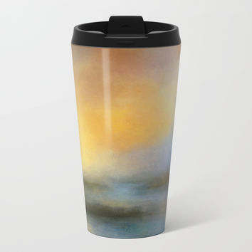 Monoliths - Who Were We Metal Travel Mug by Theresa Campbell D'August Art