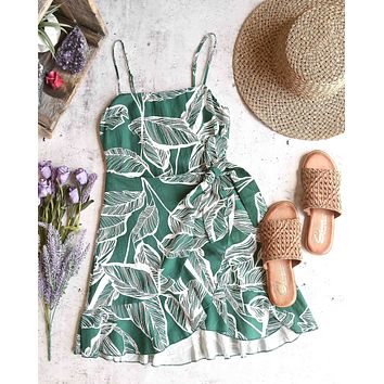 all the things we love leaf floral wrap dress - more colors