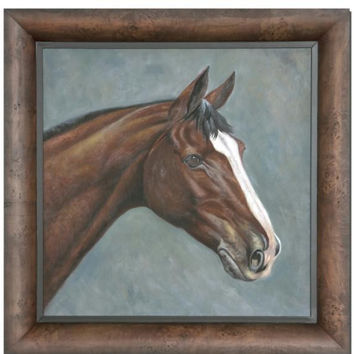 Framed Horse Portrait - Hand-painted Finish
