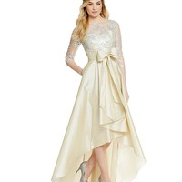 Adrianna Papell Sequined Illusion Lace Hi-Low Gown | Dillards