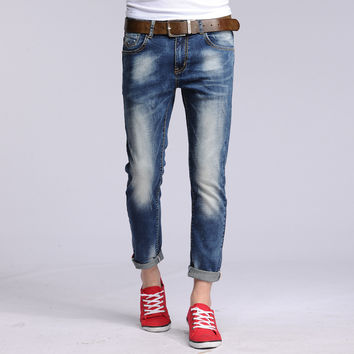 Cotton Men Slim Jeans [6528727171]