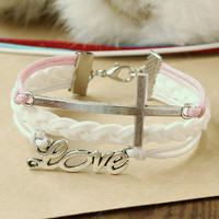 Cross Bracelet - the pure love bracelet -pure white combination bracelet,gift for your girlfriend