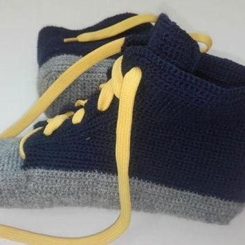 newest collection 8c0ff 57c1e CREYONB Wool socks, wool slippers, Men Converse Slippers, Croche