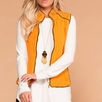Vail Quilted Vest - Mustard