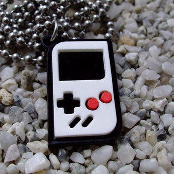 Game Boy inspired laser cut acrylic pendant necklace or key chain-Super Offer for only this week-Two necklaces for 25