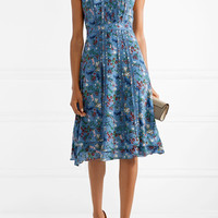 Alice + Olivia - Marta ruffle-trimmed printed silk-georgette dress