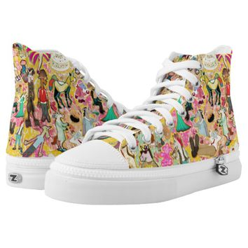Decoupage Unicorn Printed Shoes