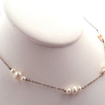 Vintage Sterling Freshwater Pearl Necklace