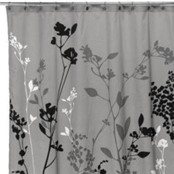Reflections Gray Fabric Shower Curtain From Bed Bath Amp Beyond