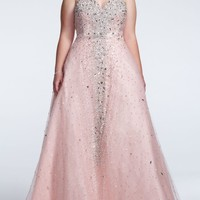 Strapless Tulle Ball Gown with Rhinestone Detail - David's Bridal