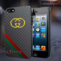 Gucci Gold Logo For - iPhone 4 4S iPhone 5 5S 5C and Samsung Galaxy S3 S4 S5 Case