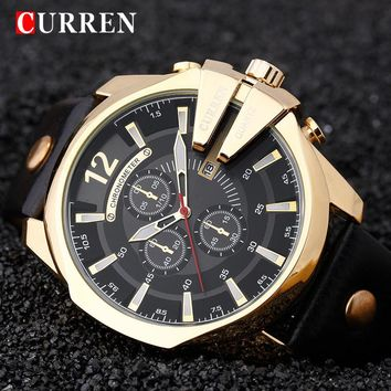 Relogio Masculino CURREN Golden Men Watch