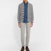Brunello Cucinelli - Slim-Fit Garment-Washed Cotton-Twill Trousers
