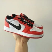 """""""Nike Air Jordan I"""" Unisex Casual Fashion Multicolor Low Help Plate Shoes Basketball Shoes Couple Sneakers"""