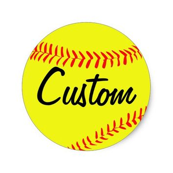 Custom Softball Stickers