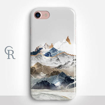 iPhone 8 Case Mountains For iPhone 8 iPhone 8 Plus - iPhone X - iPhone 7 Plus - iPhone 6 - iPhone 6S - iPhone SE - Samsung S8 - iPhone 5