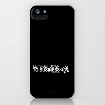 lets get down to business to defeat the huns... mulan funny quote iPhone & iPod Case by studiomarshallarts