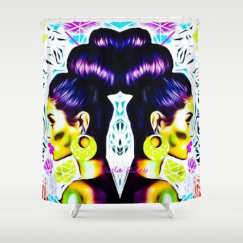 QUEEN OF UPDO Shower Curtain by violajohnsonriley