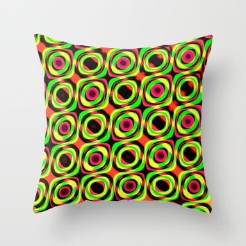 Mod Pattern Throw Pillow by tjustleft