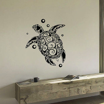 WALL DECAL VINYL STICKER ANIMAL TURTLE SEA OCEAN DECOR SB690