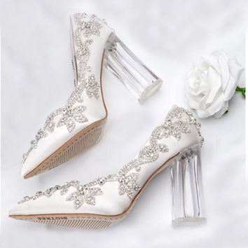 Rosanno Crystal Heel Shoes