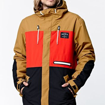Neff Trifecta Snow Jacket - Mens Tee - Black/Tan