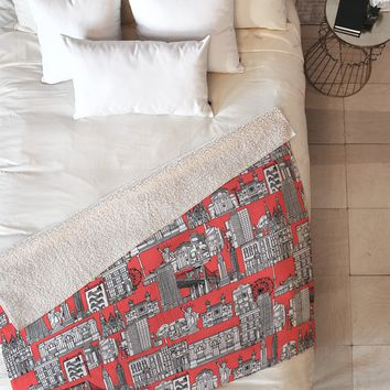 Sharon Turner New York Coral Fleece Throw Blanket