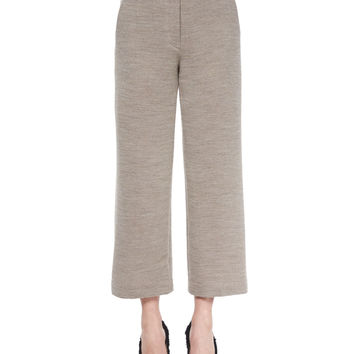 Cropped Wide-Leg Dress Pants, Size: