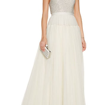 Bead-embellished tulle gown | Needle & Thread | US | THE OUTNET